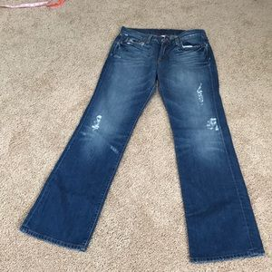 Lucky Brand Size 8/29  distressed denim jeans